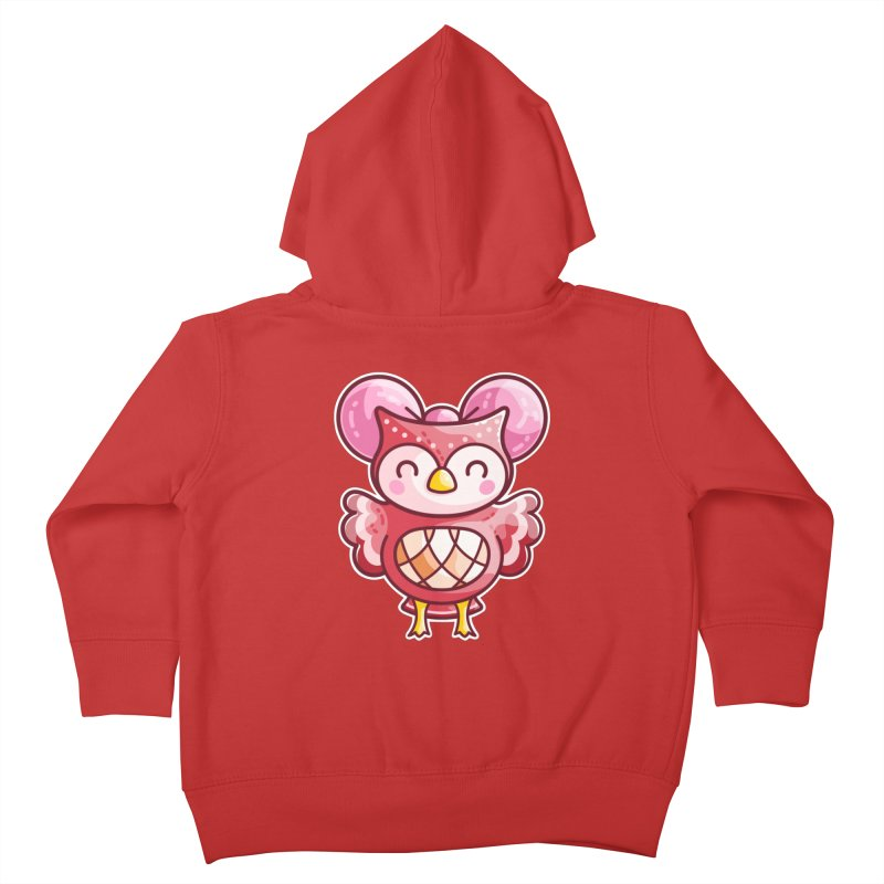 Cute Celeste Owl Kids Toddler Zip-Up Hoody by Flaming Imp's Artist Shop