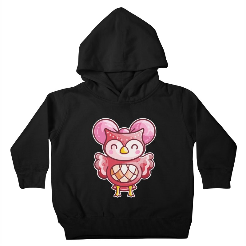 Cute Celeste Owl Kids Toddler Pullover Hoody by Flaming Imp's Artist Shop