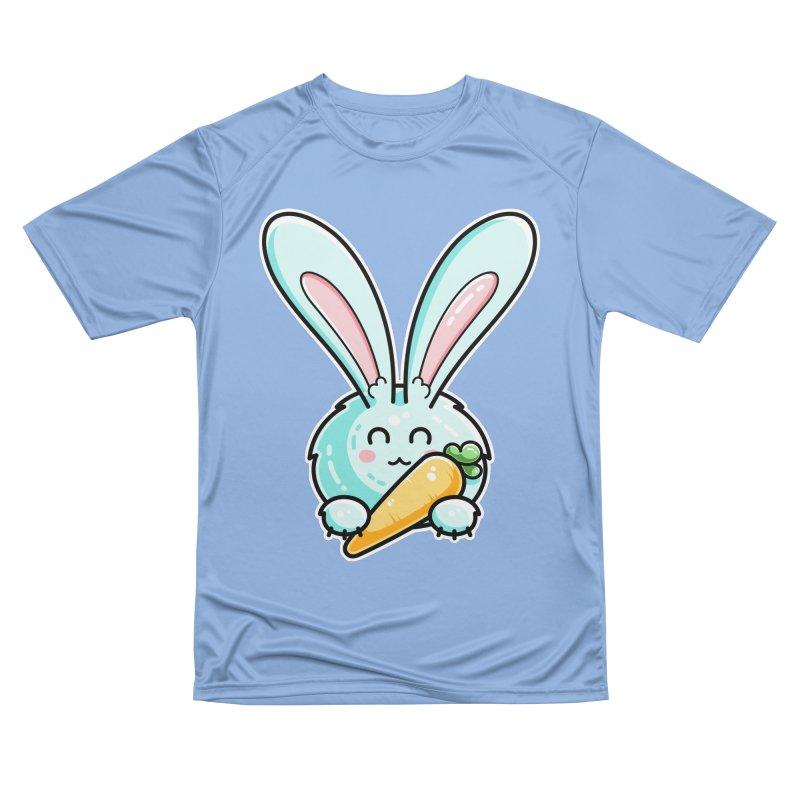 Kawaii Cute Rabbit Holding Carrot Women's T-Shirt by Flaming Imp's Artist Shop