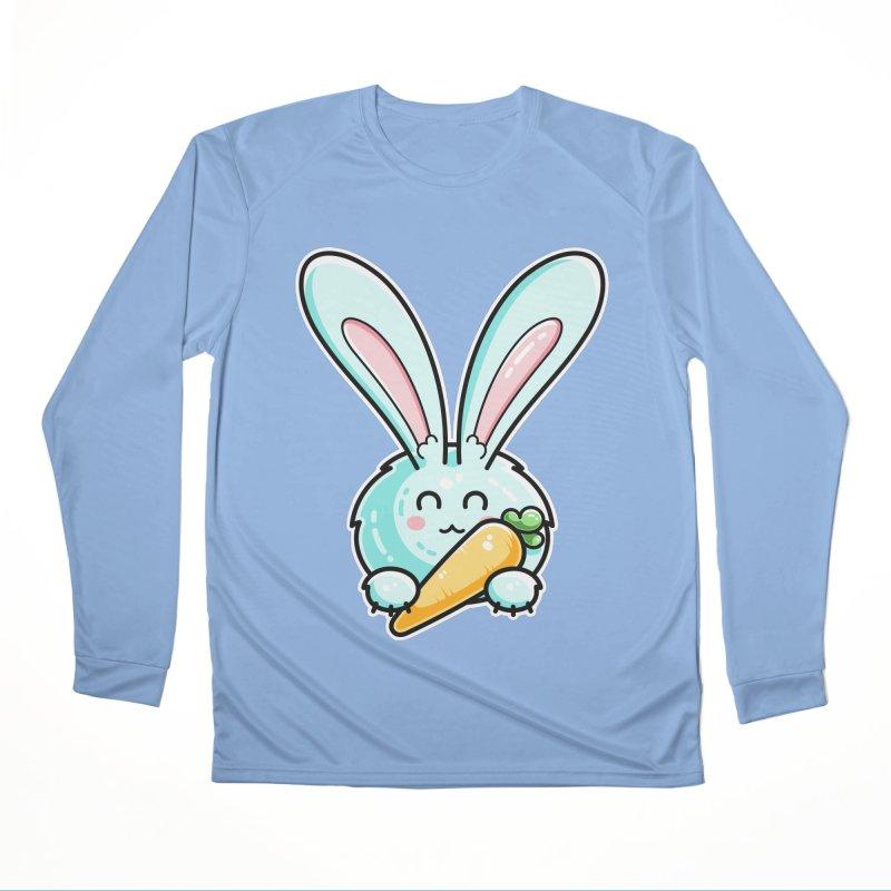 Kawaii Cute Rabbit Holding Carrot Women's Longsleeve T-Shirt by Flaming Imp's Artist Shop