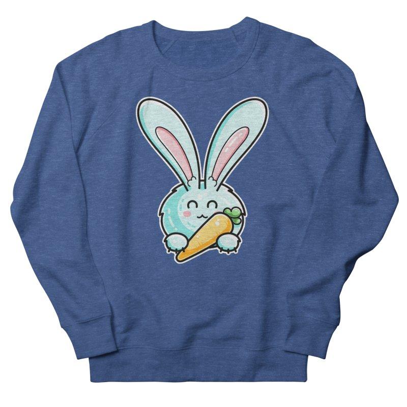 Kawaii Cute Rabbit Holding Carrot Men's Sweatshirt by Flaming Imp's Artist Shop