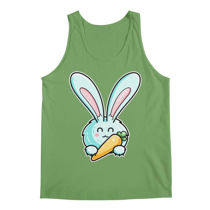 Kawaii Cute Rabbit Holding Carrot Unisex Tank by Flaming Imp's Artist Shop