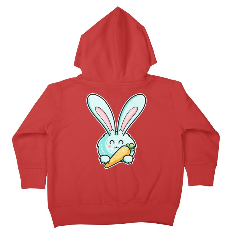 Kawaii Cute Rabbit Holding Carrot Kids Toddler Zip-Up Hoody by Flaming Imp's Artist Shop