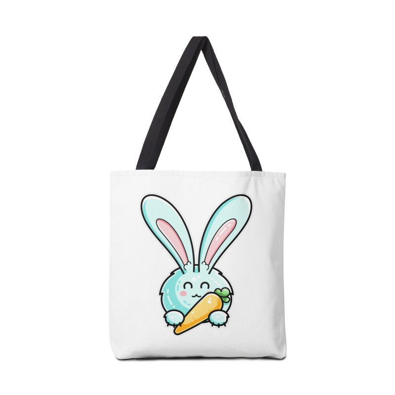 Kawaii Cute Rabbit Holding Carrot Accessories Bag by Flaming Imp's Artist Shop