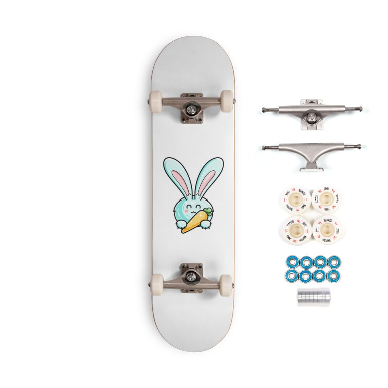 Kawaii Cute Rabbit Holding Carrot Accessories Complete - Premium Skateboard by Flaming Imp's Artist Shop