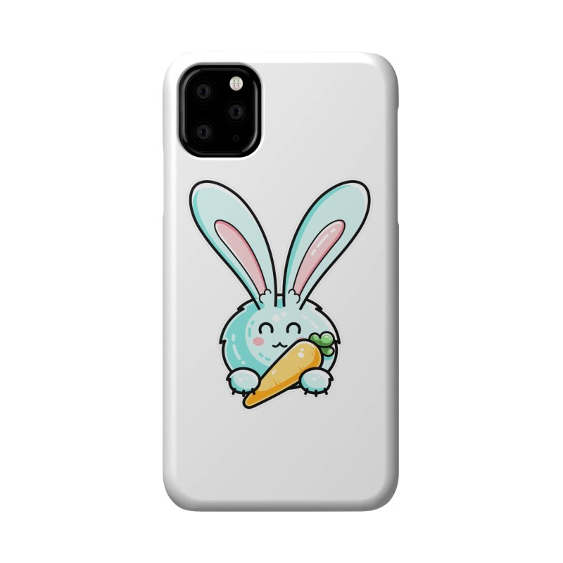 Kawaii Cute Rabbit Holding Carrot Accessories Phone Case by Flaming Imp's Artist Shop