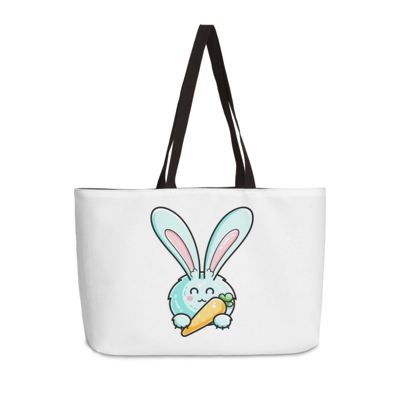 Kawaii Cute Rabbit Holding Carrot Accessories Weekender Bag Bag by Flaming Imp's Artist Shop
