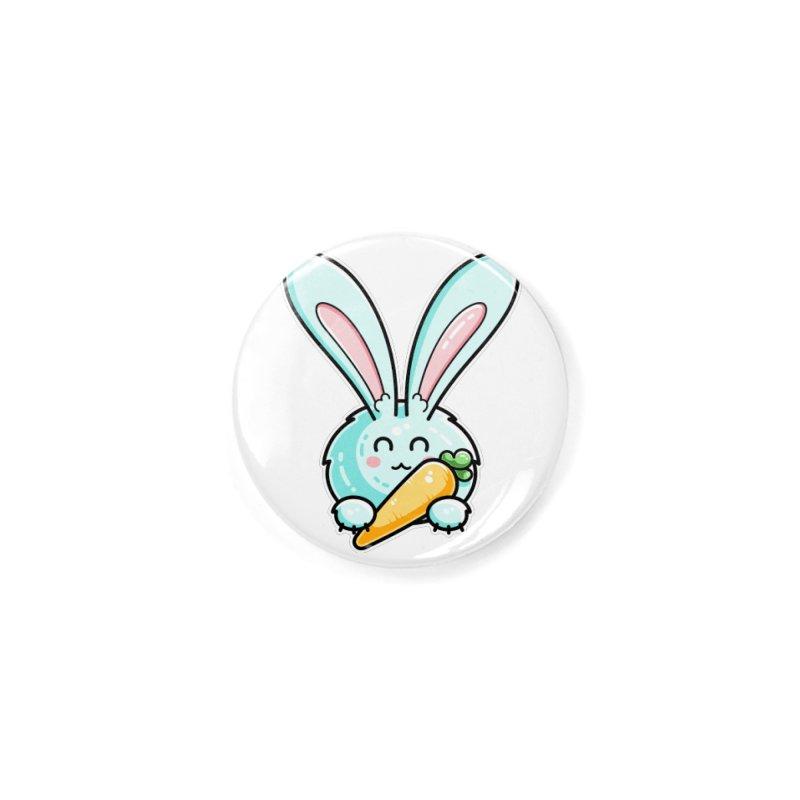 Kawaii Cute Rabbit Holding Carrot Accessories Button by Flaming Imp's Artist Shop