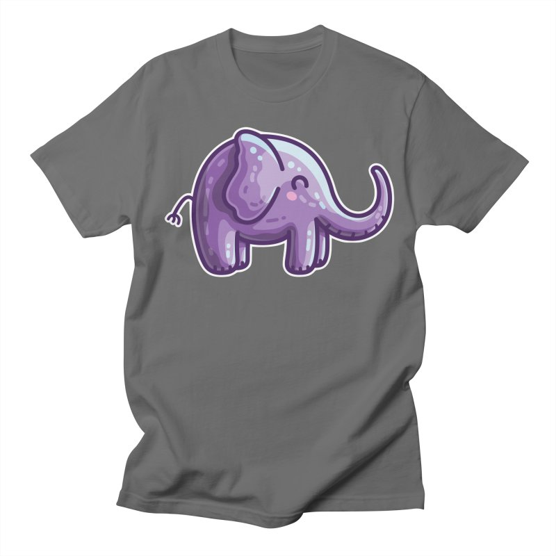 Kawaii Cute Purple Elephant Women's T-Shirt by Flaming Imp's Artist Shop