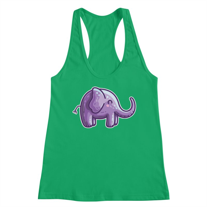 Kawaii Cute Purple Elephant Women's Tank by Flaming Imp's Artist Shop
