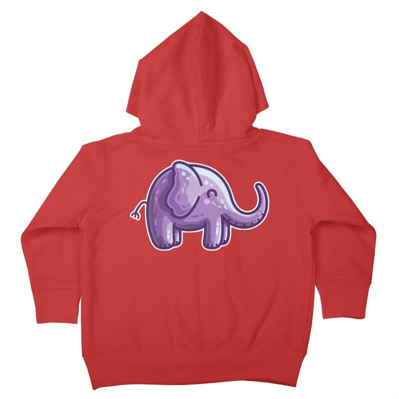 Kawaii Cute Purple Elephant Kids Toddler Zip-Up Hoody by Flaming Imp's Artist Shop