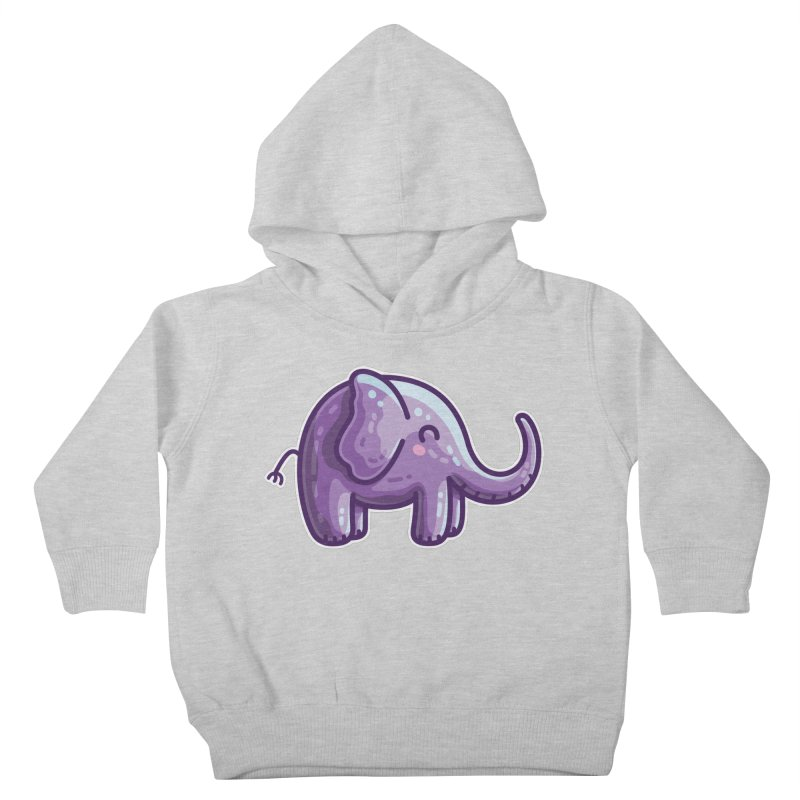 Kawaii Cute Purple Elephant Kids Toddler Pullover Hoody by Flaming Imp's Artist Shop