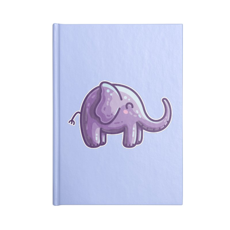 Kawaii Cute Purple Elephant Accessories Lined Journal Notebook by Flaming Imp's Artist Shop
