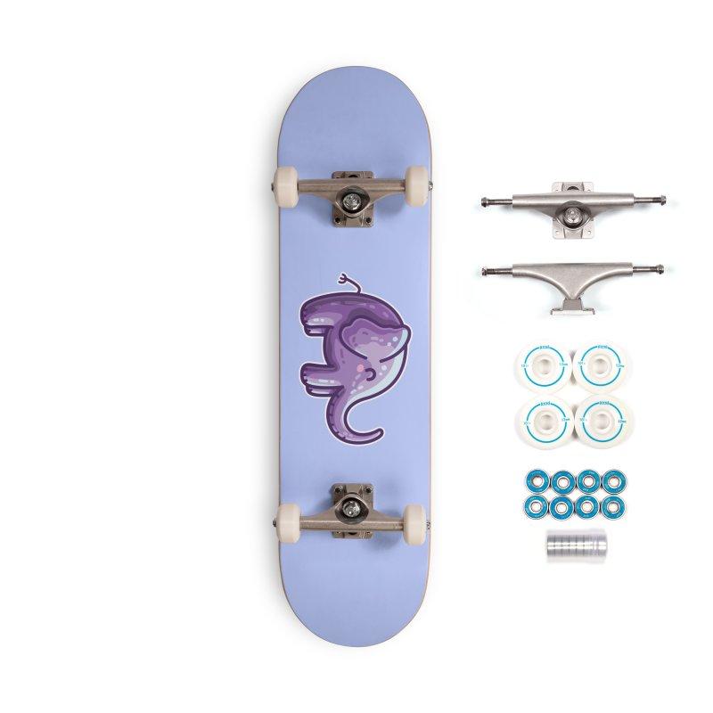 Kawaii Cute Purple Elephant Accessories Complete - Basic Skateboard by Flaming Imp's Artist Shop