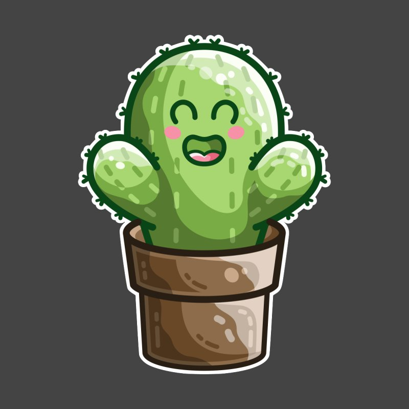 Cute Cactus In A Pot Women's T-Shirt by Flaming Imp's Artist Shop