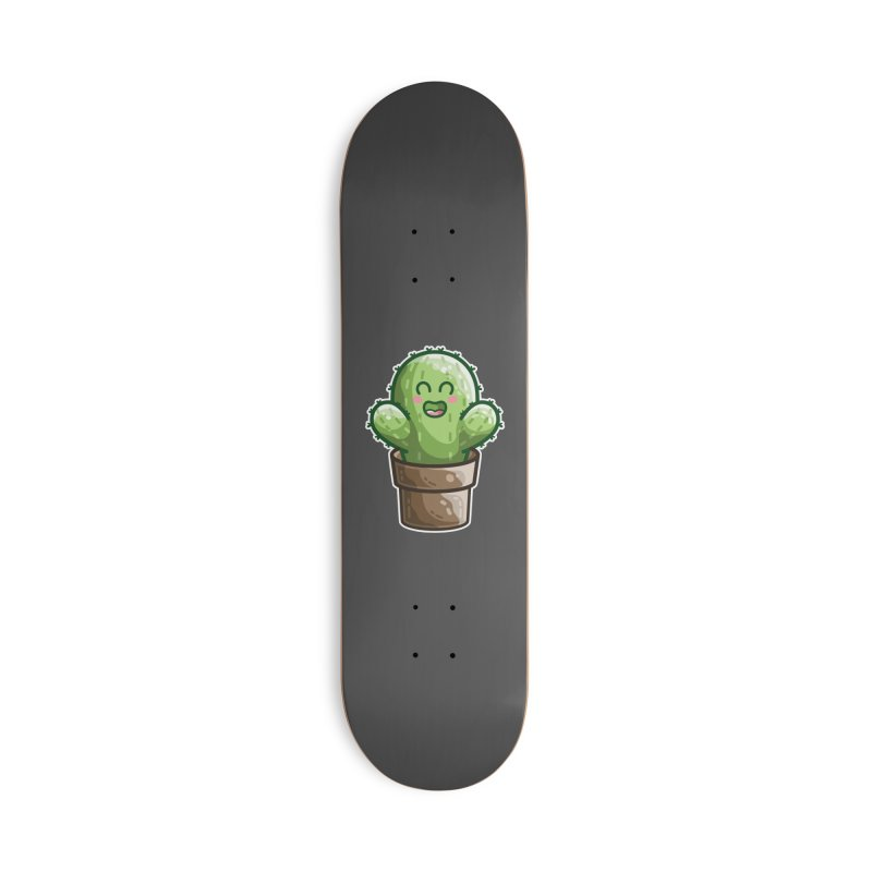 Cute Cactus In A Pot Accessories Skateboard by Flaming Imp's Artist Shop