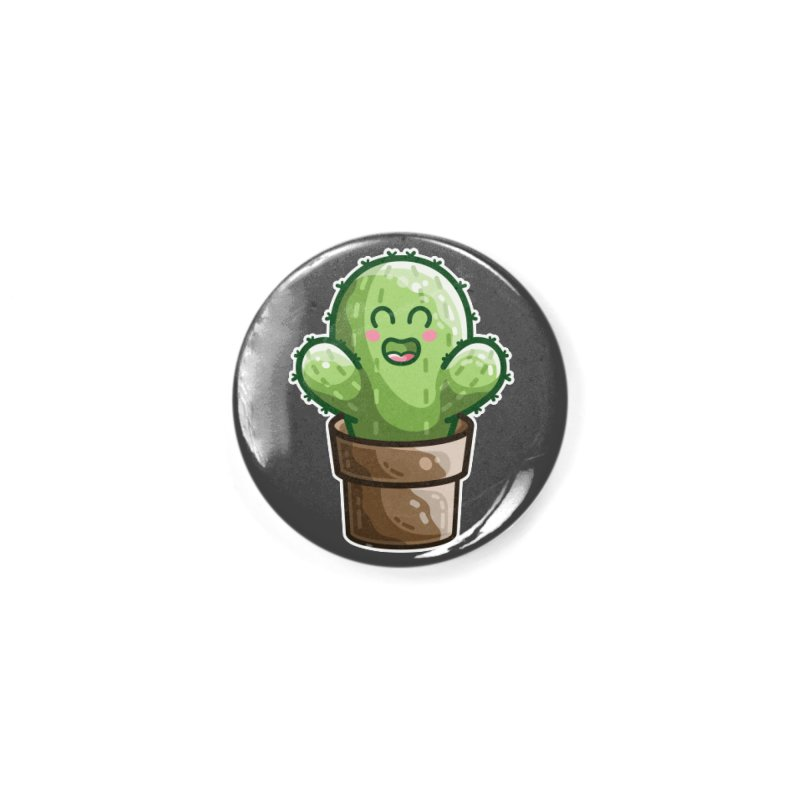 Cute Cactus In A Pot Accessories Button by Flaming Imp's Artist Shop