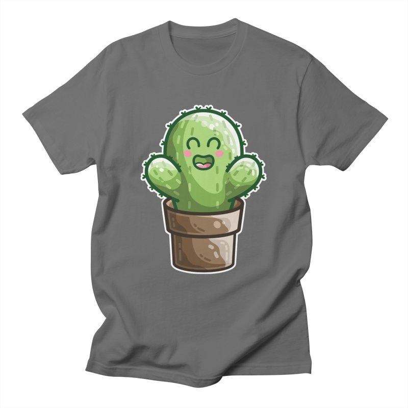 Cute Cactus In A Pot Unisex T-Shirt by Flaming Imp's Artist Shop