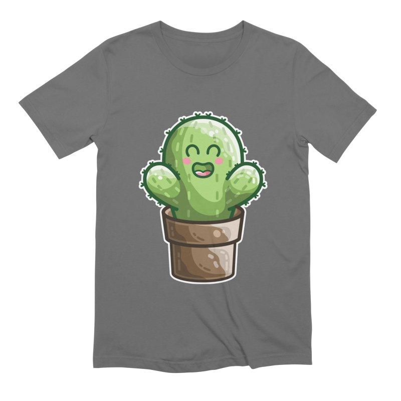 Cute Cactus In A Pot Men's T-Shirt by Flaming Imp's Artist Shop