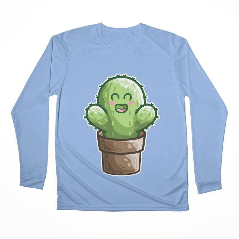 Cute Cactus In A Pot Women's Longsleeve T-Shirt by Flaming Imp's Artist Shop