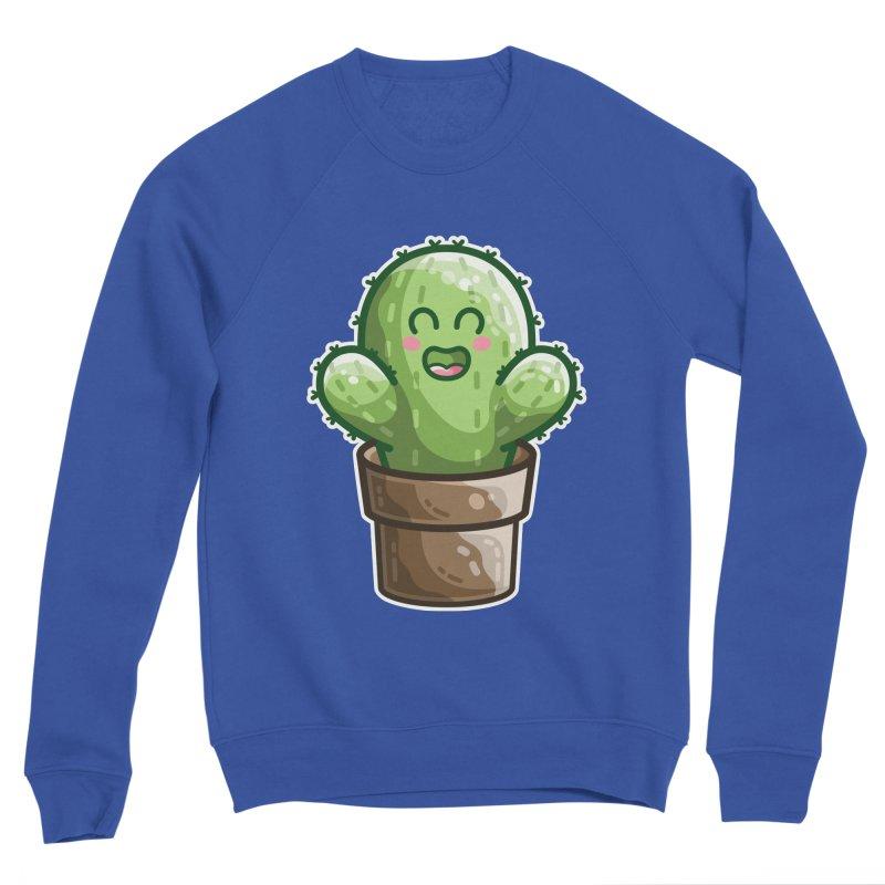 Cute Cactus In A Pot Women's Sweatshirt by Flaming Imp's Artist Shop