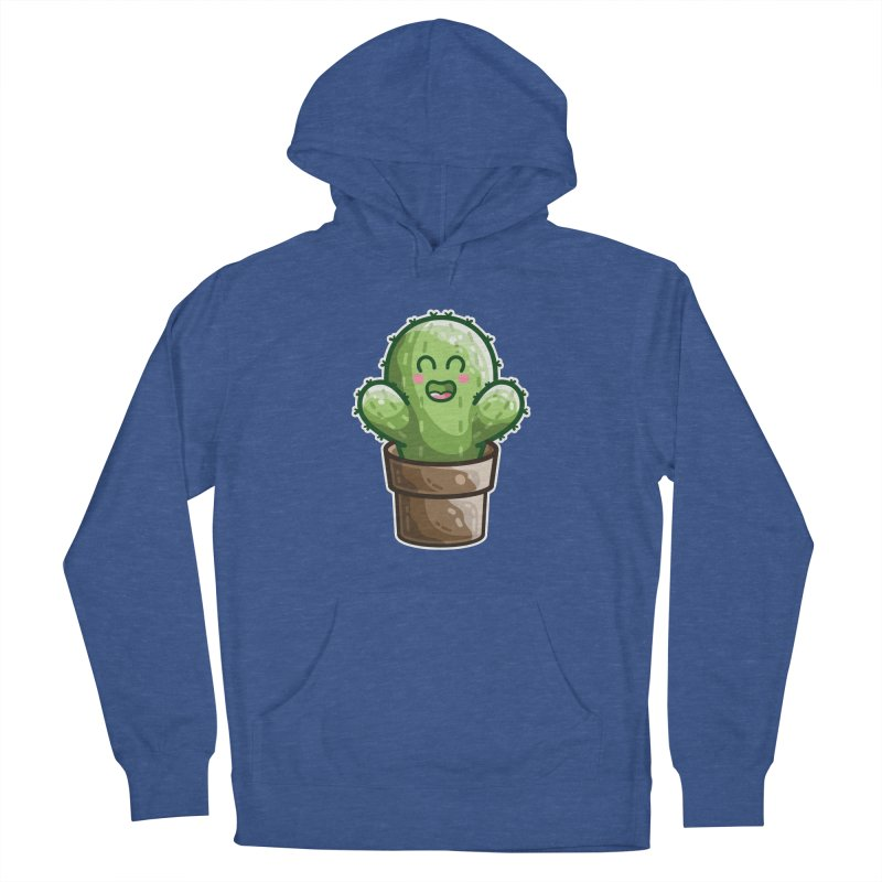 Cute Cactus In A Pot Men's French Terry Pullover Hoody by Flaming Imp's Artist Shop