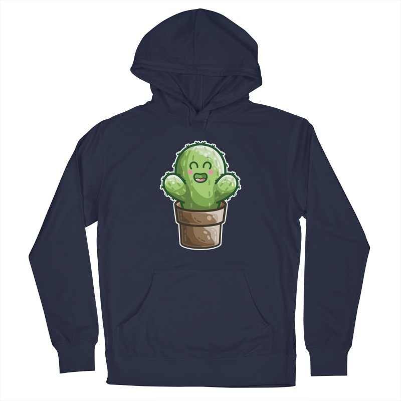Cute Cactus In A Pot Men's Pullover Hoody by Flaming Imp's Artist Shop