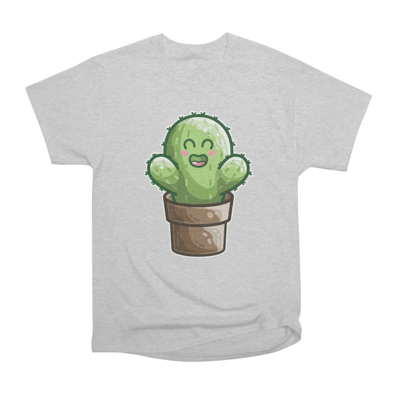 Cute Cactus In A Pot Men's Heavyweight T-Shirt by Flaming Imp's Artist Shop
