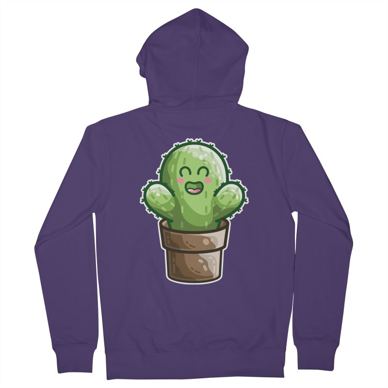 Cute Cactus In A Pot Women's French Terry Zip-Up Hoody by Flaming Imp's Artist Shop