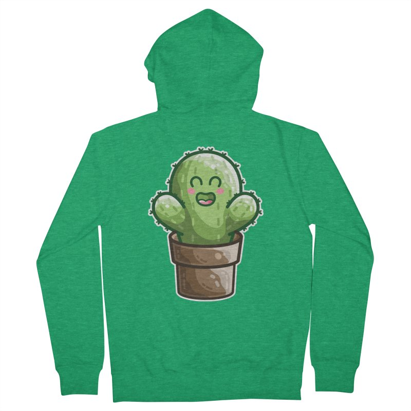 Cute Cactus In A Pot Men's Zip-Up Hoody by Flaming Imp's Artist Shop