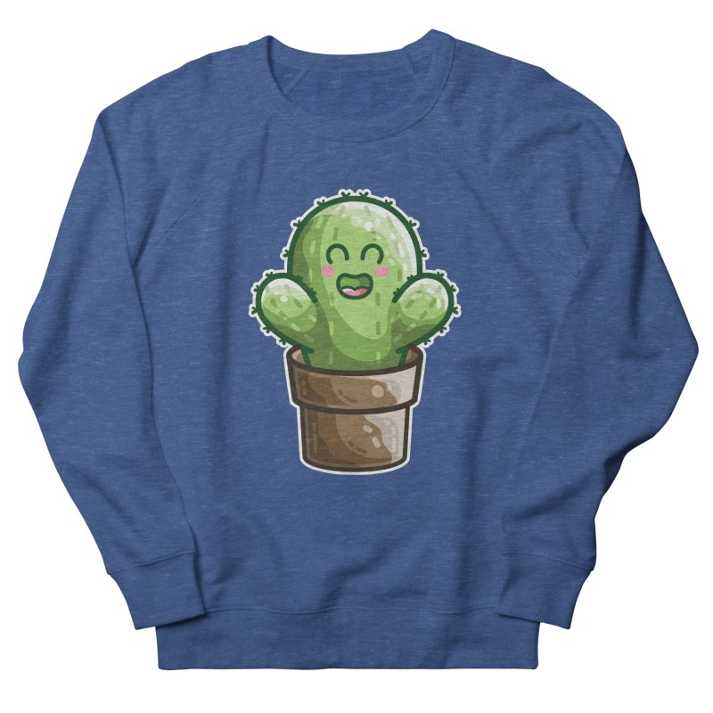 Cute Cactus In A Pot Men's Sweatshirt by Flaming Imp's Artist Shop