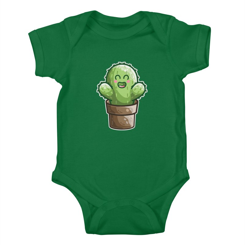 Cute Cactus In A Pot Kids Baby Bodysuit by Flaming Imp's Artist Shop