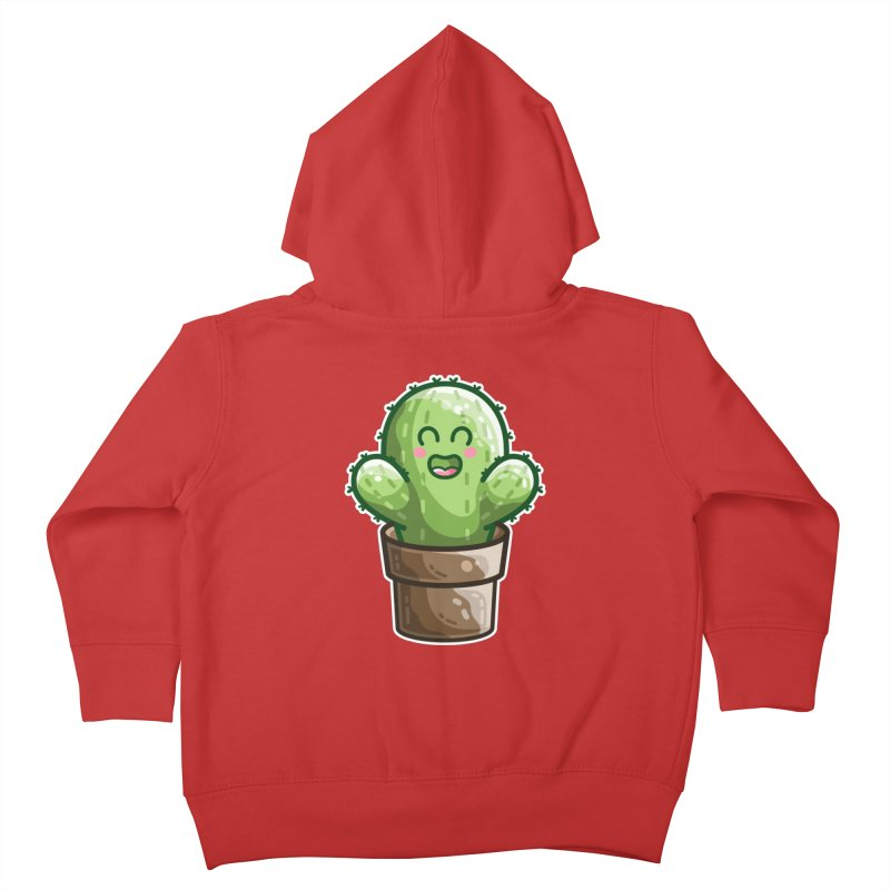 Cute Cactus In A Pot Kids Toddler Zip-Up Hoody by Flaming Imp's Artist Shop