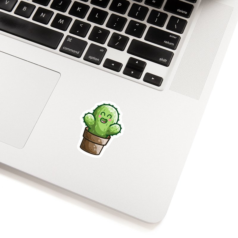 Cute Cactus In A Pot Accessories Sticker by Flaming Imp's Artist Shop