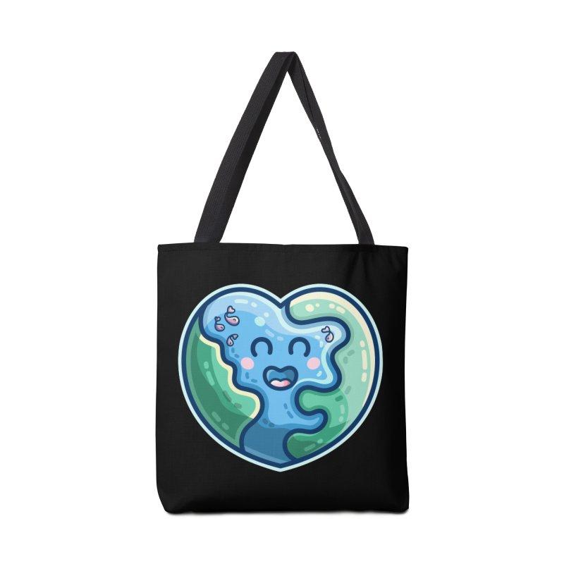 Earth Heart Kawaii Cute Accessories Bag by Flaming Imp's Artist Shop
