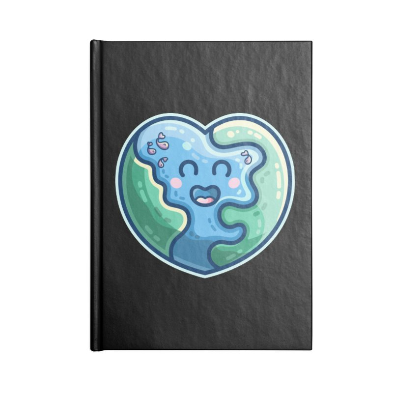 Earth Heart Kawaii Cute Accessories Notebook by Flaming Imp's Artist Shop