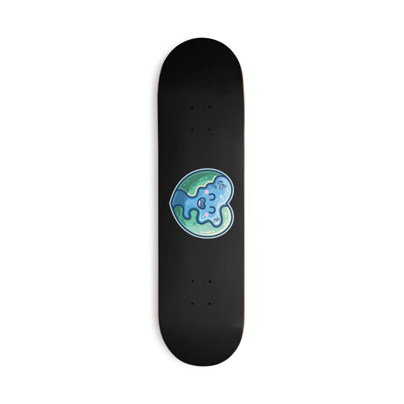 Earth Heart Kawaii Cute Accessories Skateboard by Flaming Imp's Artist Shop