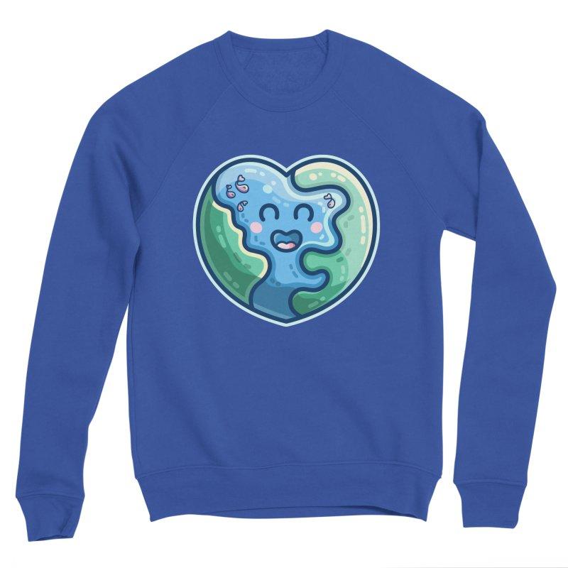 Earth Heart Kawaii Cute Women's Sweatshirt by Flaming Imp's Artist Shop