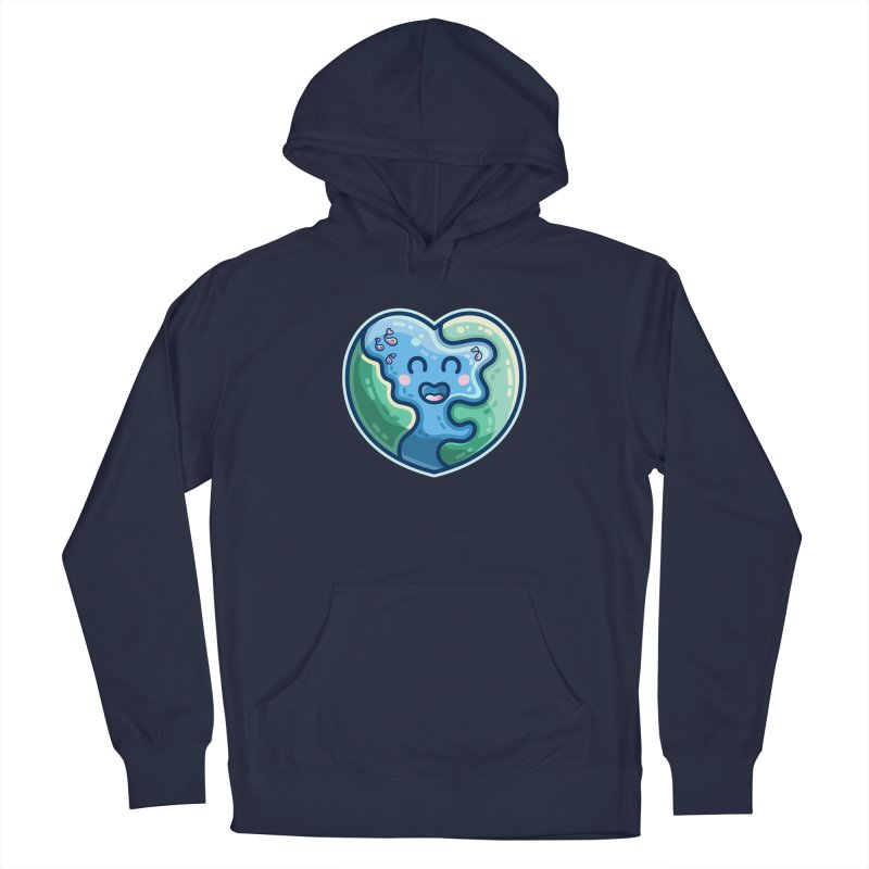 Earth Heart Kawaii Cute Men's Pullover Hoody by Flaming Imp's Artist Shop