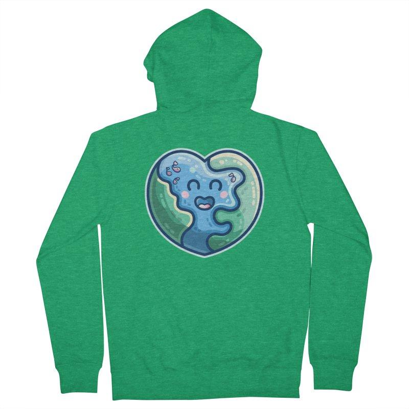 Earth Heart Kawaii Cute Men's Zip-Up Hoody by Flaming Imp's Artist Shop
