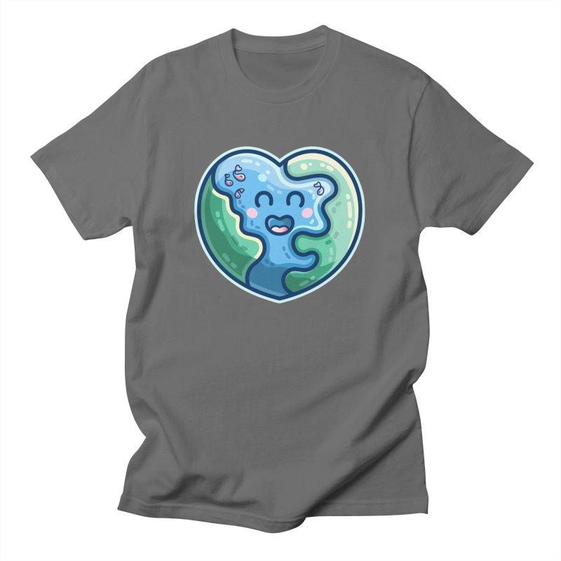 Earth Heart Kawaii Cute Unisex T-Shirt by Flaming Imp's Artist Shop