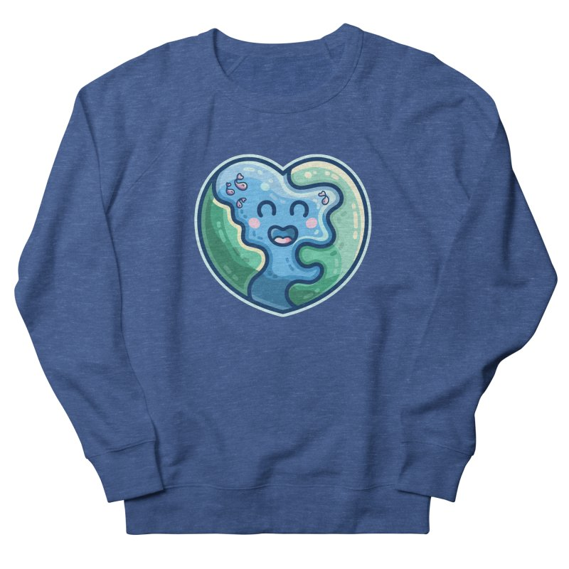 Earth Heart Kawaii Cute Men's Sweatshirt by Flaming Imp's Artist Shop