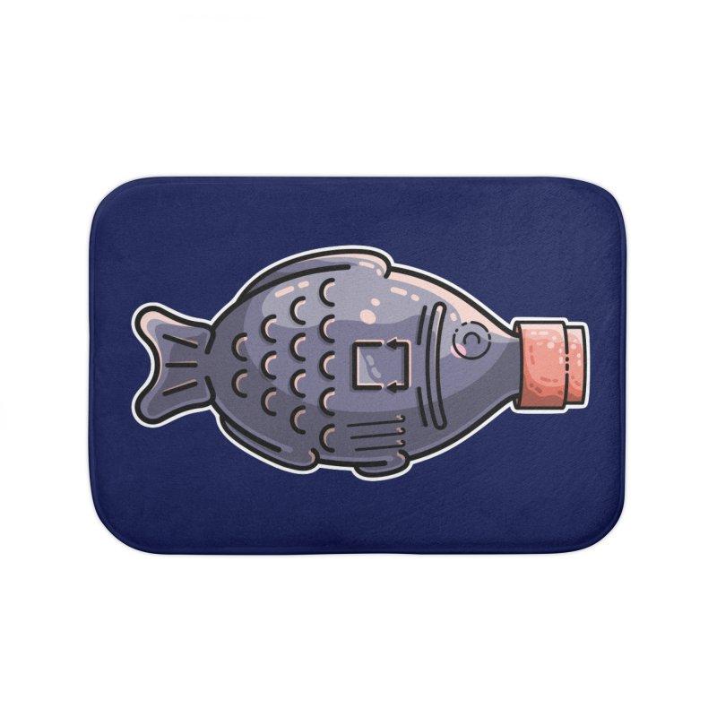 Cute Soy Fish Home Bath Mat by Flaming Imp's Artist Shop