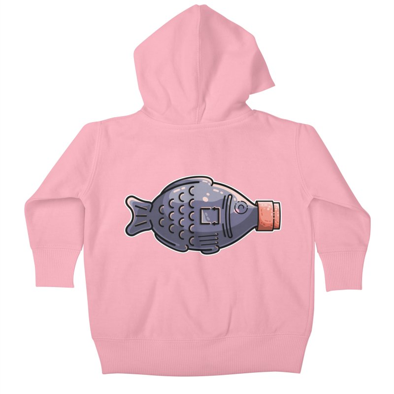 Cute Soy Fish Kids Baby Zip-Up Hoody by Flaming Imp's Artist Shop