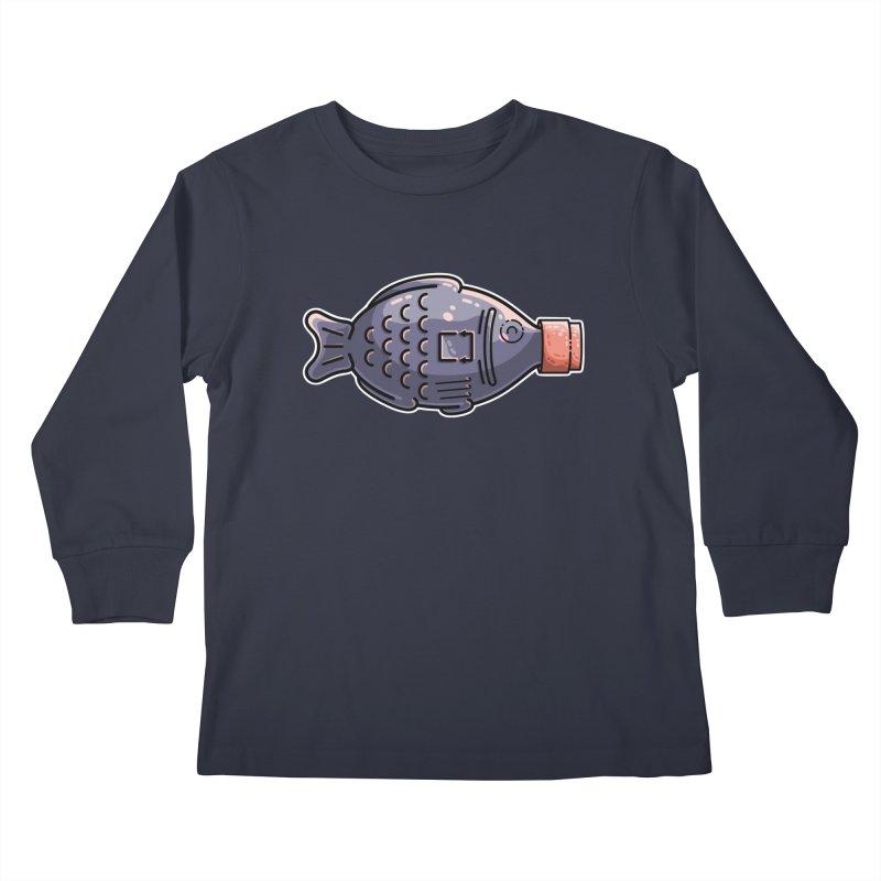 Cute Soy Fish Kids Longsleeve T-Shirt by Flaming Imp's Artist Shop