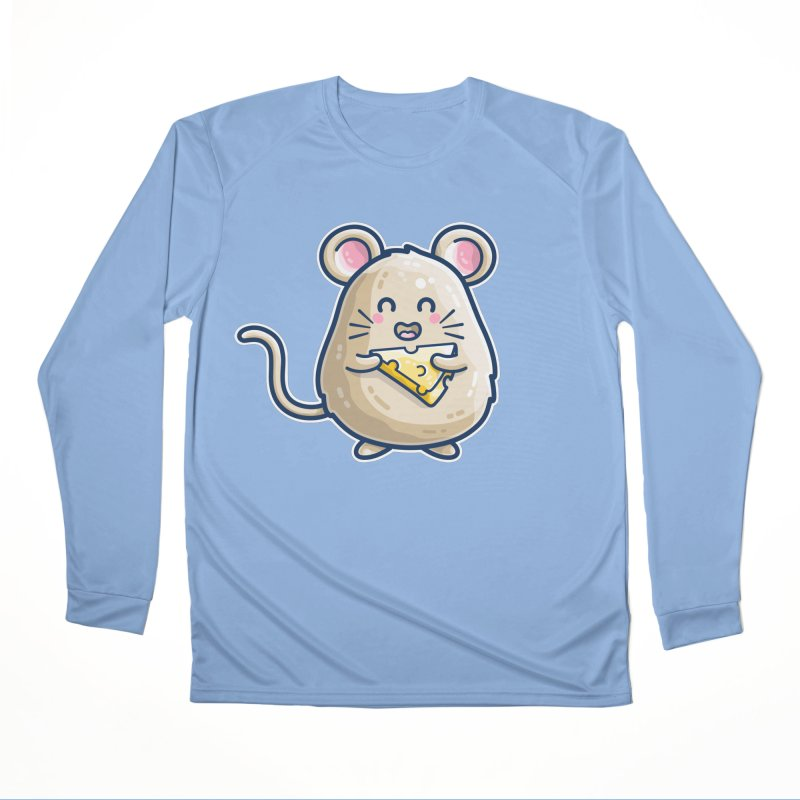 Mouse And Cheese Kawaii Cute Women's Longsleeve T-Shirt by Flaming Imp's Artist Shop