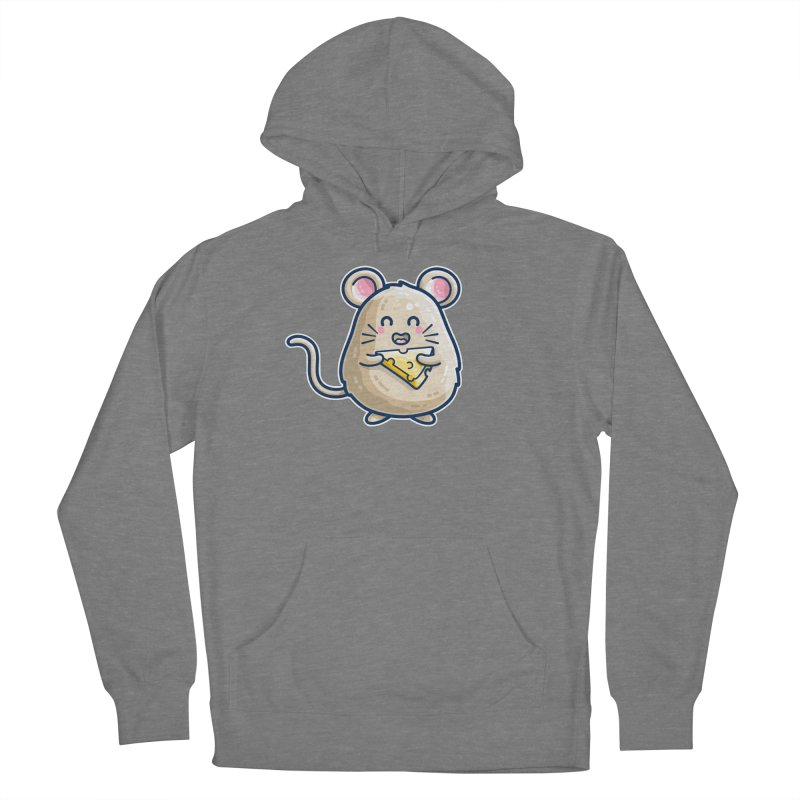 Mouse And Cheese Kawaii Cute Women's Pullover Hoody by Flaming Imp's Artist Shop