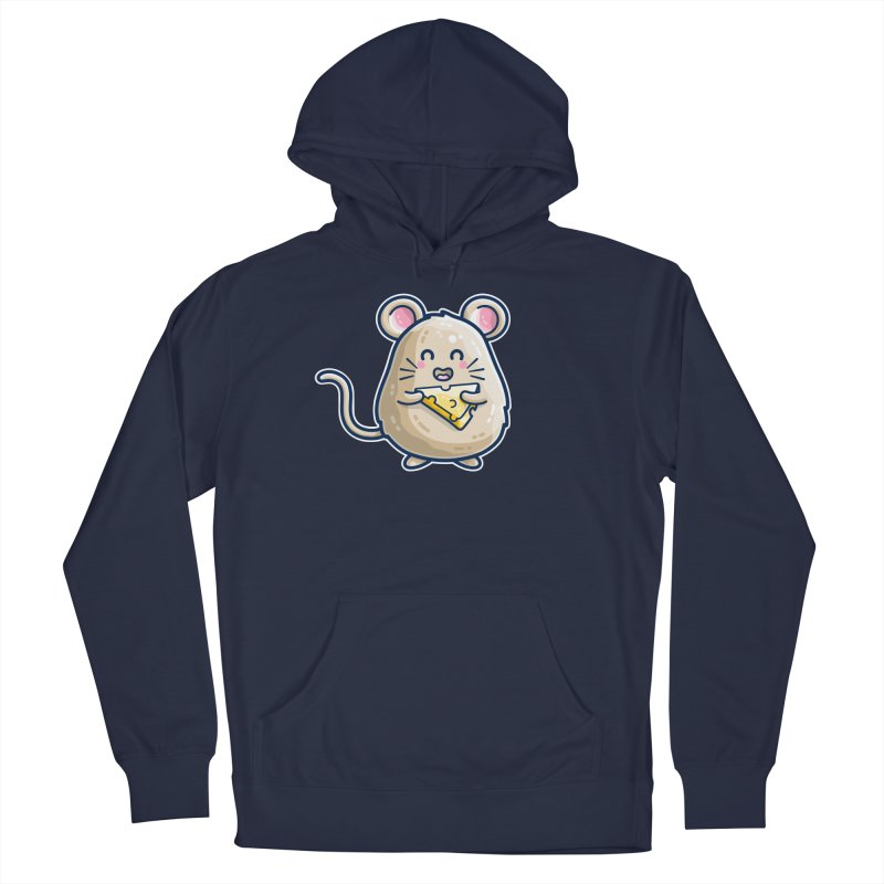 Mouse And Cheese Kawaii Cute Men's Pullover Hoody by Flaming Imp's Artist Shop