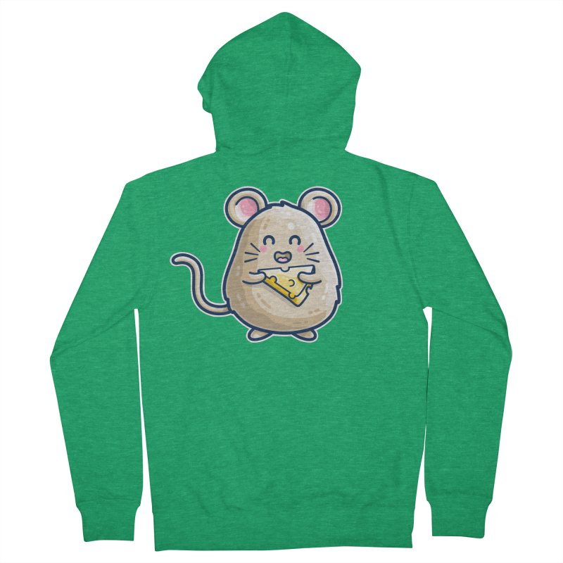 Mouse And Cheese Kawaii Cute Women's Zip-Up Hoody by Flaming Imp's Artist Shop