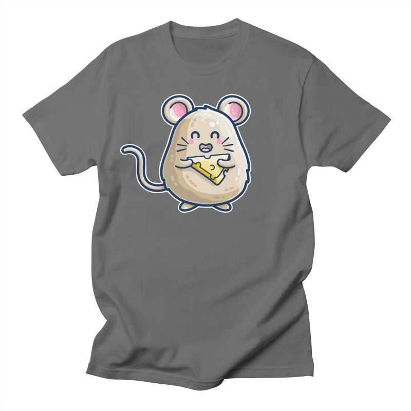 Mouse And Cheese Kawaii Cute Unisex T-Shirt by Flaming Imp's Artist Shop